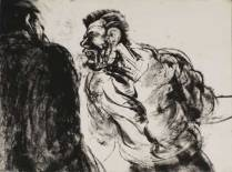"""""""Angry Perp,"""" monotype © Bruce Waldman"""
