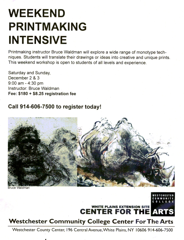 Bruce Waldman Monotype Workshop